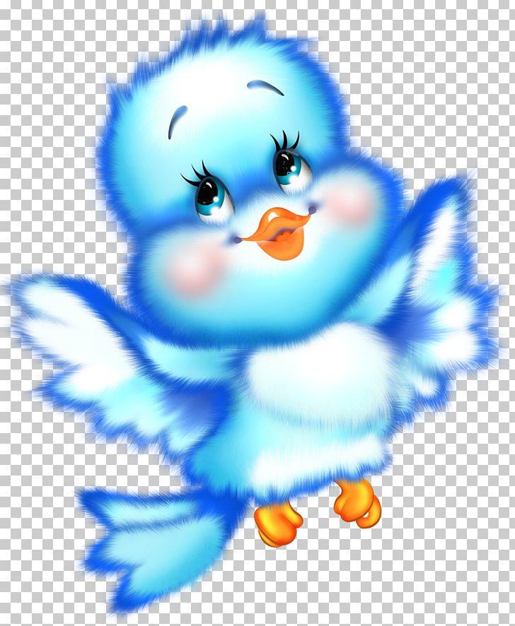Cute Blue Bird Cartoon Free Png Clipart Art Beak Bird