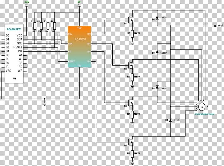stepper motor driver circuit circuit diagram unipolar motor schematic png,  clipart, angle, arduino, area, circuit component,