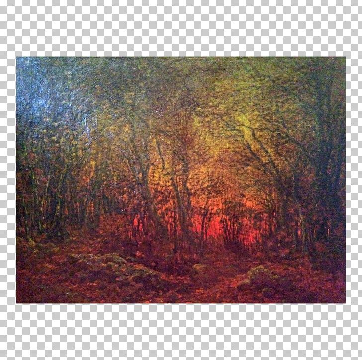 Painting Temperate Broadleaf And Mixed Forest Woodland Landscape Acrylic Paint PNG, Clipart, Acrylic Paint, Art, Autumn, Biome, Broadleaved Tree Free PNG Download