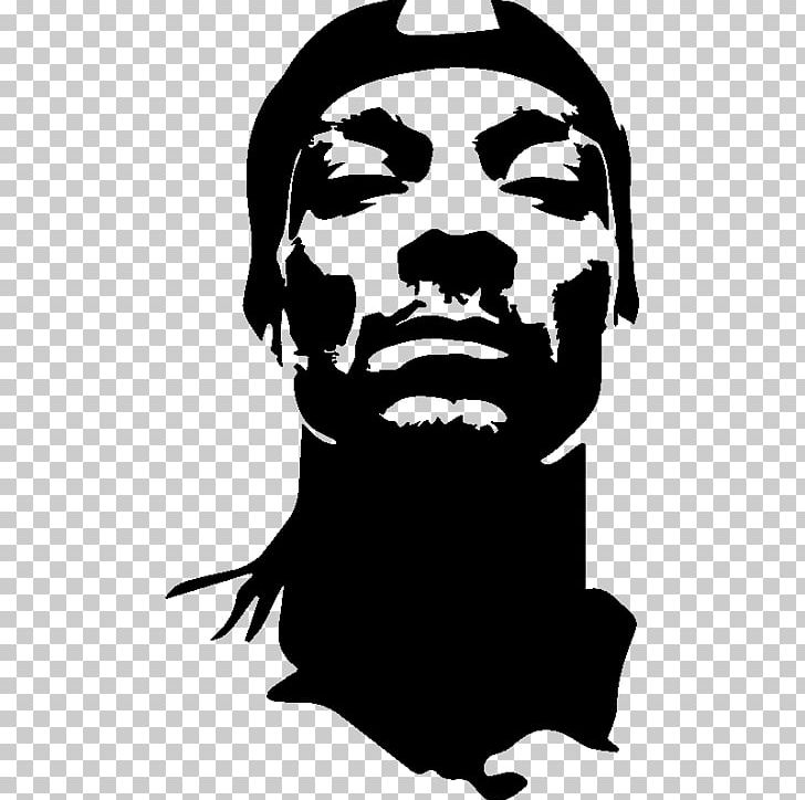 Snoop Dogg Musician Stencil Png Clipart Beard Beautiful Black