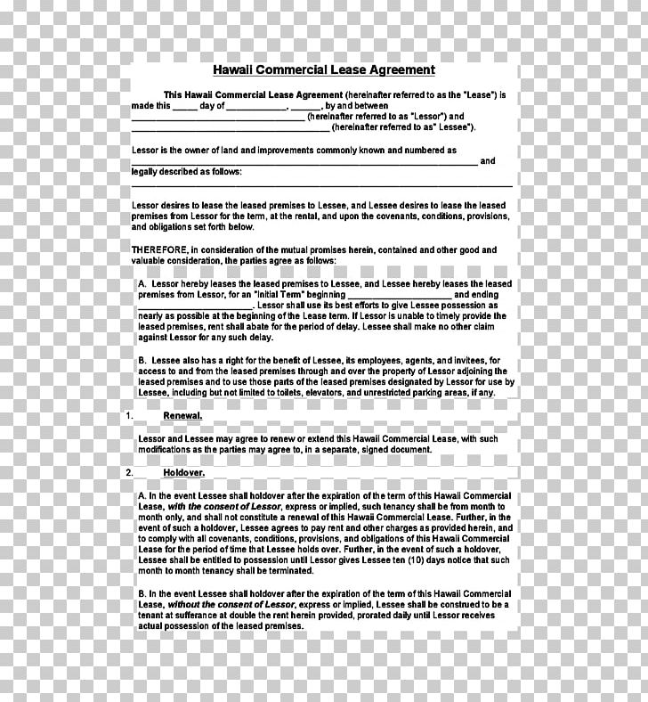Document Lease Rental Agreement Contract Real Property Png