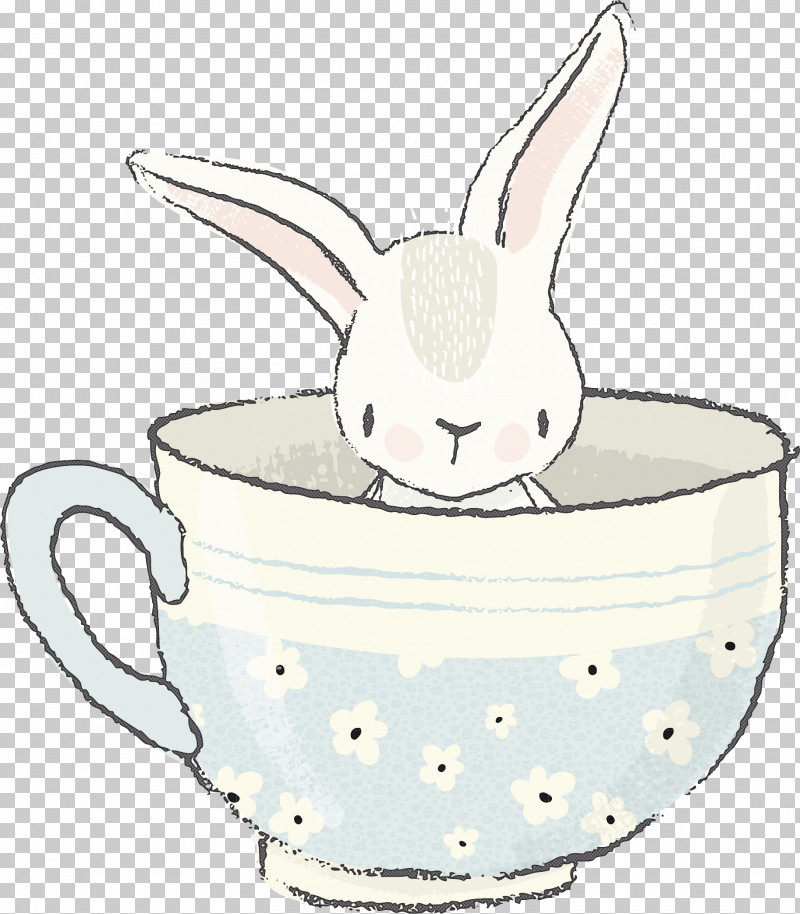 Rabbit Cup Tableware Rabbits And Hares Drinkware PNG, Clipart, Cup, Drawing, Drinkware, Ear, Line Art Free PNG Download