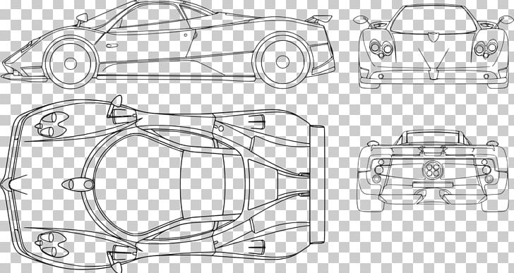 Pagani Zonda R Pagani Huayra Car Blueprint PNG, Clipart, Angle