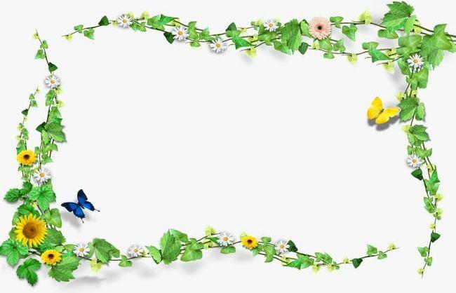 Green plant border - Download Free Vectors, Clipart ... |Green Flower Border