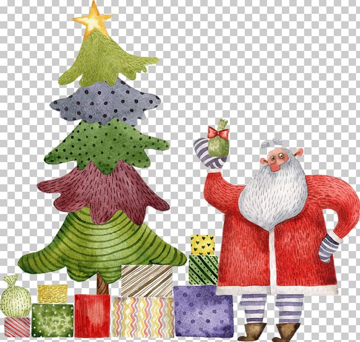 Christmas Tree Santa Claus Gift PNG, Clipart, Animation, Christmas, Christmas Decoration, Christmas Eve, Christmas Ornament Free PNG Download