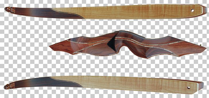 Recurve Bow Throwing Knife Bow And Arrow Archery Bubinga PNG