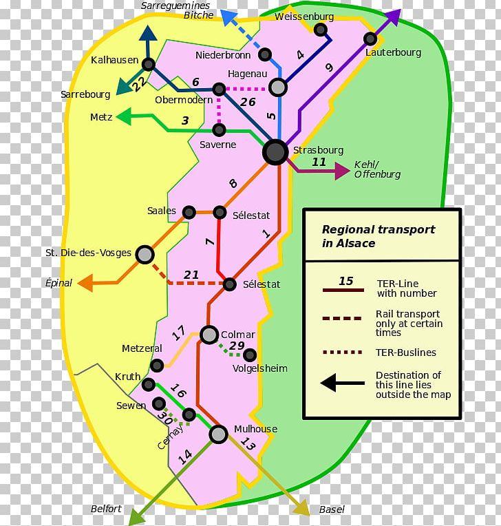 Mulhouse TER Alsace Transport Express Régional Rail ... on