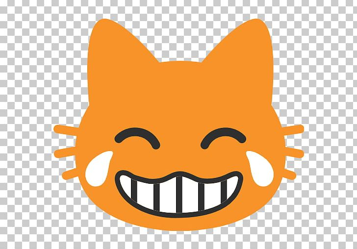 Face With Tears Of Joy Emoji Cat Smile Laughter PNG, Clipart, Android Nougat, Carnivoran, Cartoon, Cat, Cat Like Mammal Free PNG Download
