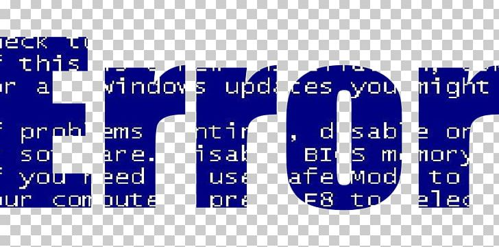 Error Software Bug Portable Network Graphics PNG, Clipart, Area, Banner, Blue, Brand, Bsod Free PNG Download