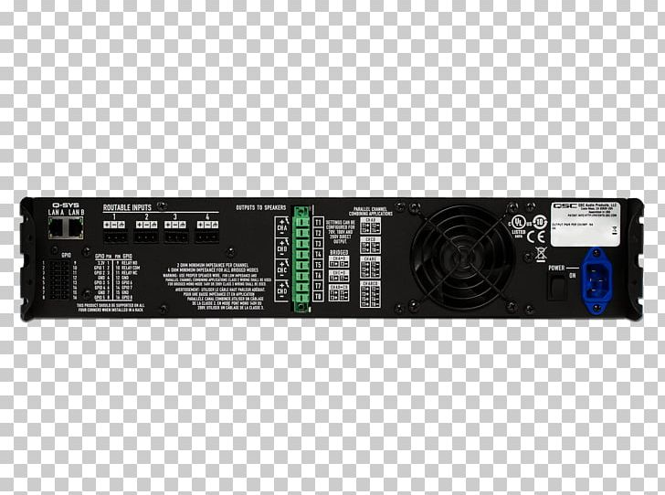 QSC Audio Products Electronics Amplifier Amplificador Loudspeaker PNG, Clipart, Amplificador, Amplifier, Audio , Computer Hardware, Electronic Device Free PNG Download