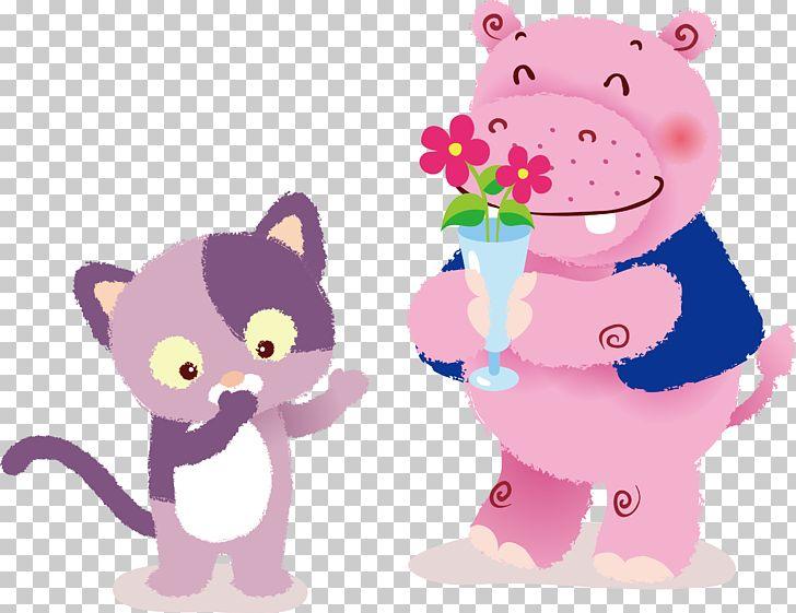 Cat Kitten Hippopotamus Cuteness PNG, Clipart, Animal, Animals, Art, Artworks, Carnivoran Free PNG Download