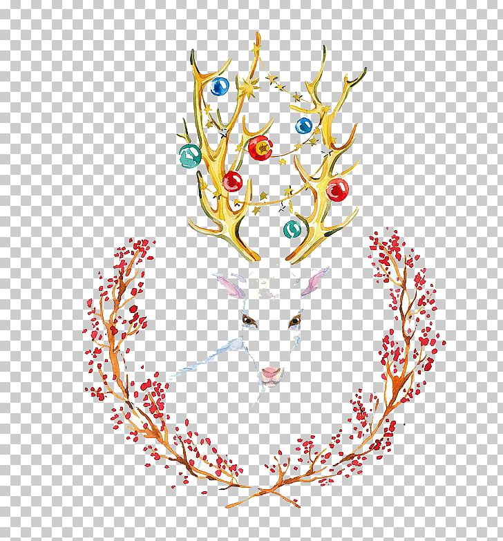 Creative Watercolor Visual Arts Watercolor: Flowers Watercolor Painting Illustration PNG, Clipart, Animals, Art, Cartoon, Christmas Deer, Creative Watercolor Free PNG Download