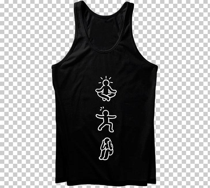 T-shirt Gilets Yoga Sleeveless Shirt PNG, Clipart, Active Tank, Black, Brand, Clothing, Cotton Free PNG Download