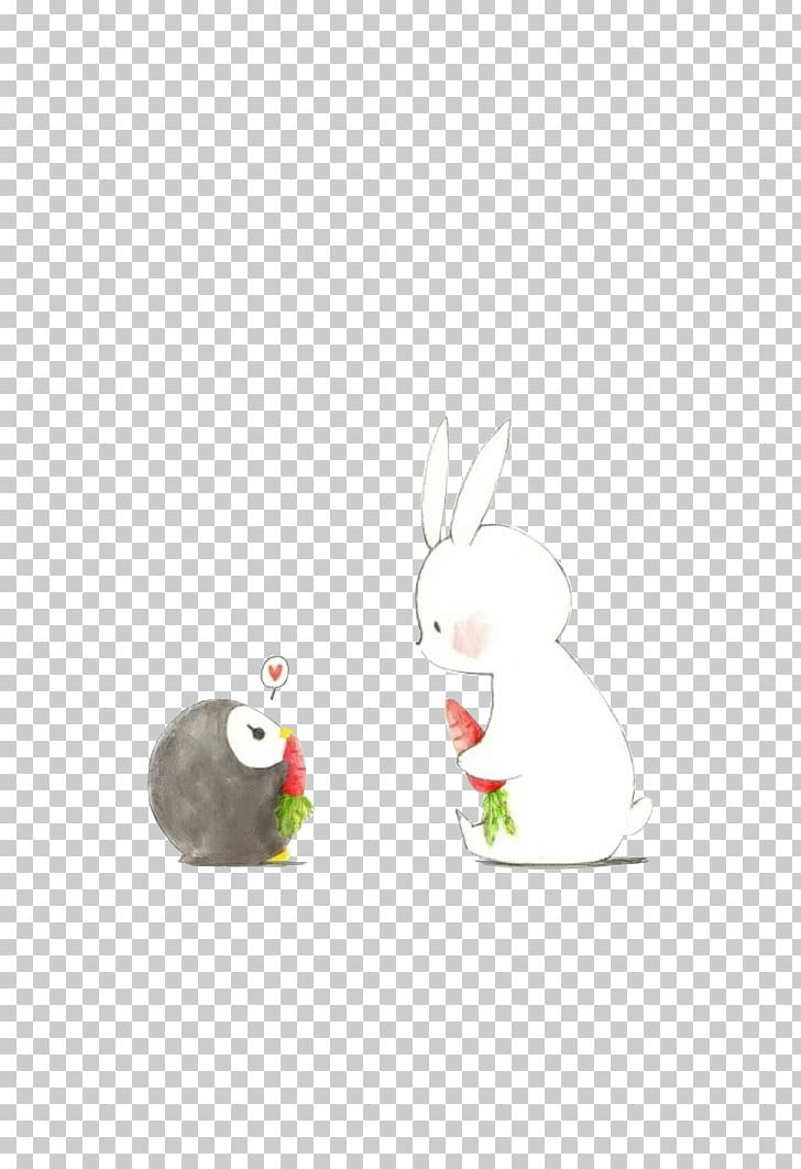 Easter Bunny Rabbit Cartoon Illustration PNG, Clipart, Animals, Beak, Bird, Branch, Bunnies Free PNG Download