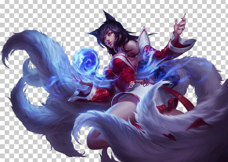 League Of Legends Ahri Cosplay Wig Nine Tailed Fox Png