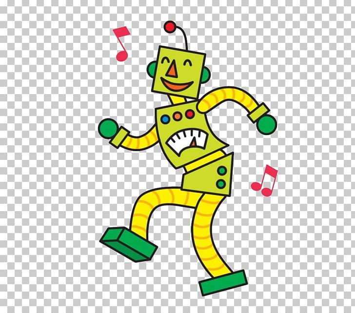 Disco Robot Dancer Cartoon Png Clipart Comics Dance Dancing Designer Electronics Free Png Download