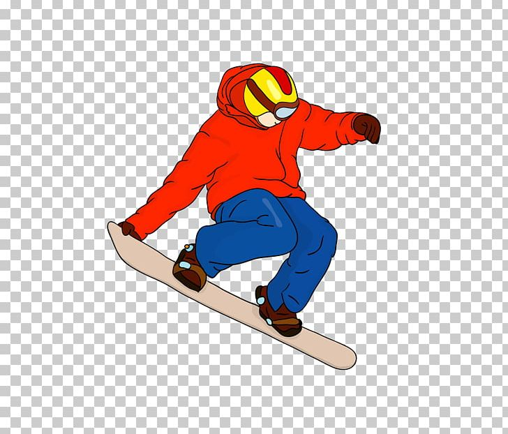 Snowboarding Cartoon Skiing Png Clipart Board Boots Drawing Headgear Line Free Png Download