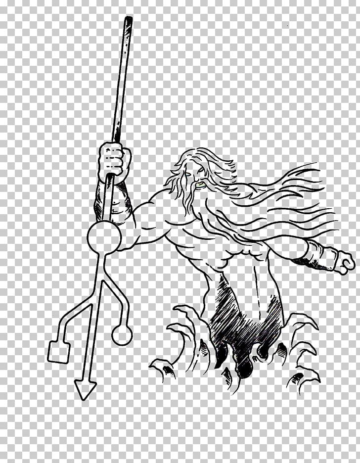 Poseidon Drawing Sketch Png Clipart Arm Art Artwork