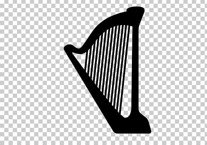 Harp Musical Instruments PNG, Clipart, Black And White, Celtic Harp, Computer Icons, Harmonica, Harp Free PNG Download