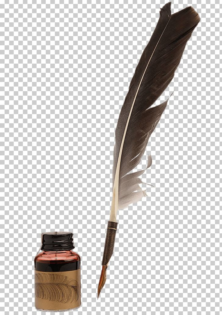 Transparent Quill And Inkwell Clipart - Transparent Background Feather Pen,  HD Png Download - kindpng