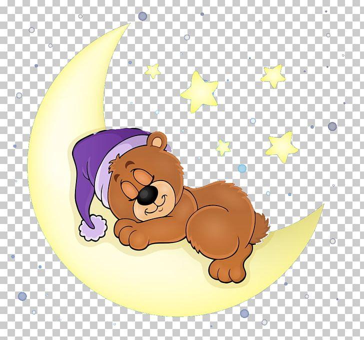 Bear sleeping. Sleep illustration png clipart
