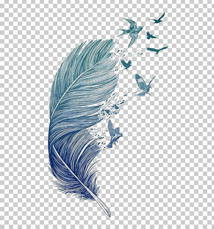 Bird Feather Printmaking Tattoo Printing PNG, Clipart, Bird, Bird Flight, Blue Feather, Cushion, Decorative Patterns Free PNG Download