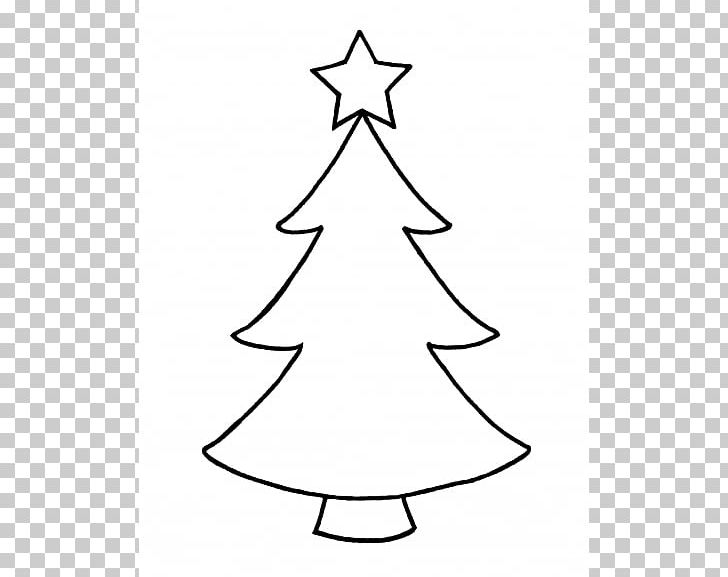 Christmas Tree Outline Png Clipart Area Black And White