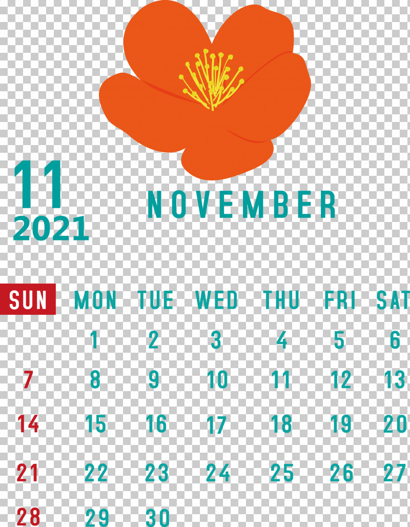 November 2021 Calendar November 2021 Printable Calendar PNG, Clipart, Biology, Flower, Line, Logo, Mathematics Free PNG Download