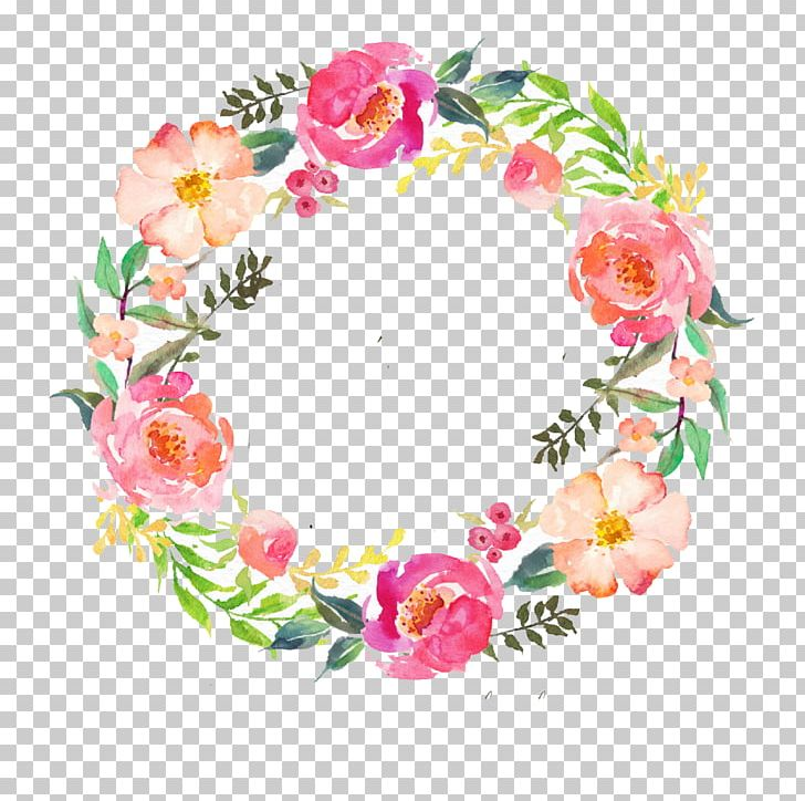 Watercolour Flowers Wreath Watercolor Painting Garland PNG, Clipart, Artificial Flower, Bridal Shower, Cut Flowers, Floral Design, Floristry Free PNG Download