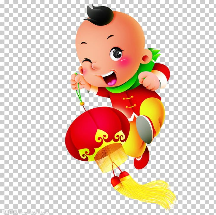 Lantern Cartoon Chinese New Year Png Clipart Adult Child Child Computer Wallpaper Fictional Character Fireworks Free