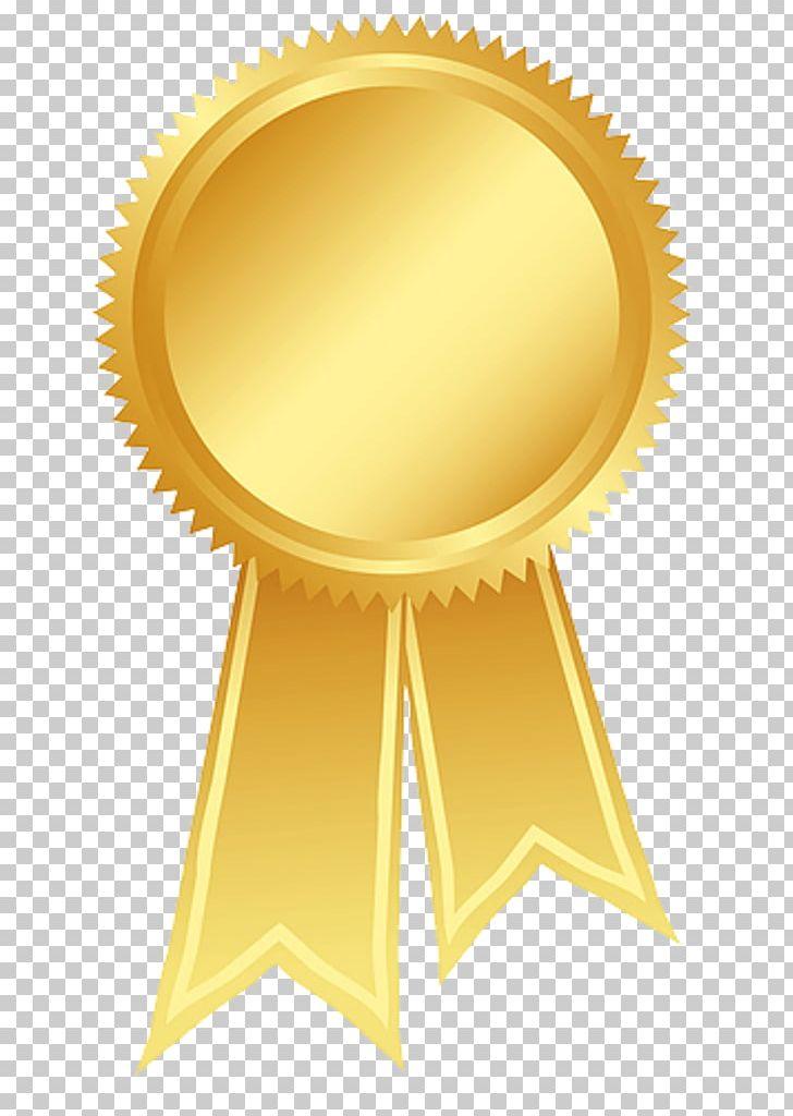 Ribbon gold. Rosette award png clipart