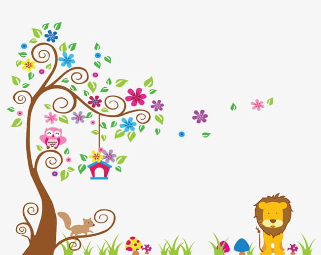 Cartoon Wall Painting Png Clipart Abstract Animal Backgrounds