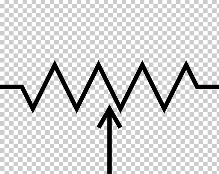 potentiometer electronic symbol wiring diagram electronic circuit resistor  png, clipart, angle, area, black and white, brand,