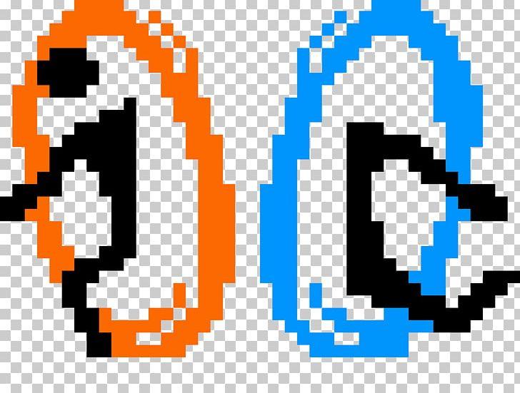 Minecraft Pixel Art Portal 2 Png Clipart Area Art