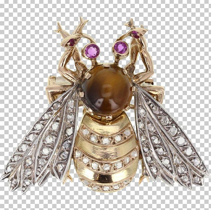 Brooch Bee Gold Insect Diamond PNG, Clipart, Antique, Art Deco, Art Nouveau, Bee, Brooch Free PNG Download