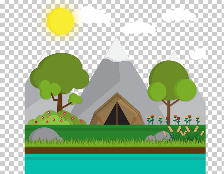 Tent Camping Landscape Png Clipart Computer Wallpaper Encapsulated Postscript Grass Happy Birthday Vector Images Landscapes Free