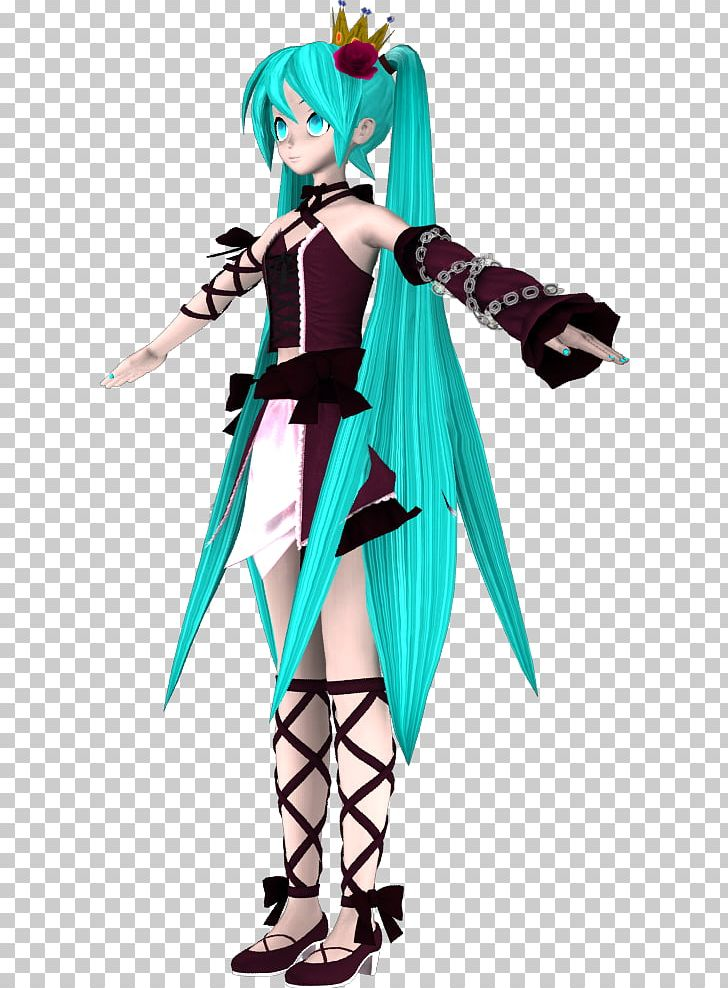 Hatsune Miku Christmas Outfit.Costume Hatsune Miku Dress Clothing Vocaloid Png Clipart
