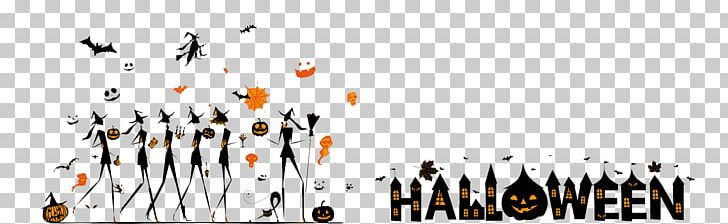 Halloween Silhouette Poster Banner PNG, Clipart, Area, Banner, Black, Boszorkxe1ny, Brand Free PNG Download