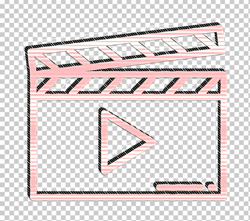 Clapperboard Icon Movie  Film Icon PNG, Clipart, Clapperboard Icon, Line, Movie Film Icon, Pink, Rectangle Free PNG Download