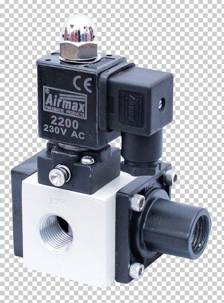 Solenoid Valve Poppet Valve Pneumatic Cylinder PNG, Clipart