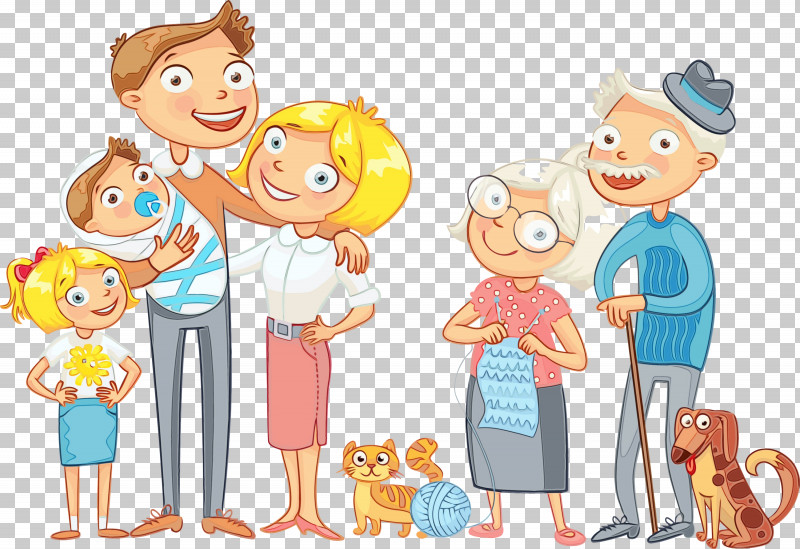 Cartoon Sharing Playing With Kids Child PNG, Clipart, Cartoon, Child, Family, Family Day, Happy Family Day Free PNG Download