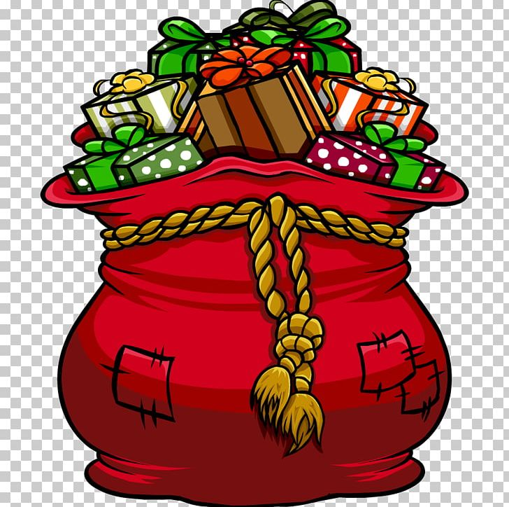 Image result for santa's toy bag clip art