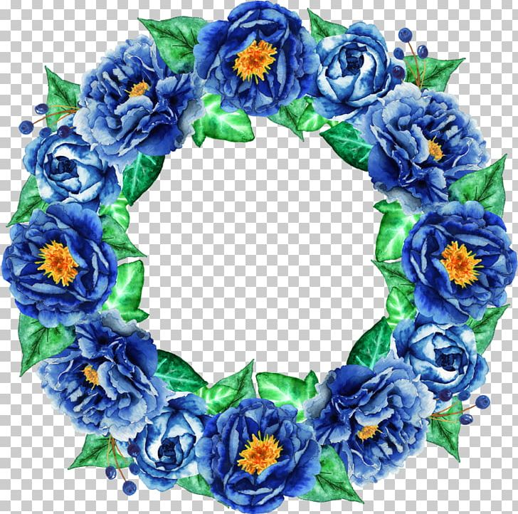 Floral Design Flower Bouquet PNG, Clipart, Blue, Blue Abstract, Blue Background, Blue Flower, Circle Frame Free PNG Download