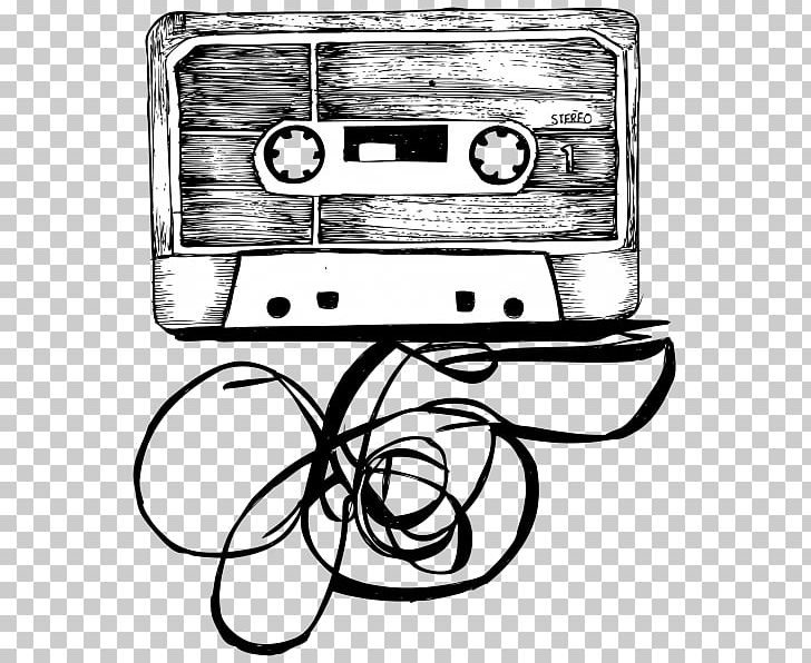Compact Cassette Drawing Musical Instruments PNG, Clipart, Audio Cassette, Black And White, Brush, Compact Cassette, Drawing Free PNG Download