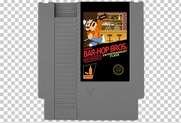 Mario Bros  Nintendo Entertainment System Hip Flask ROM