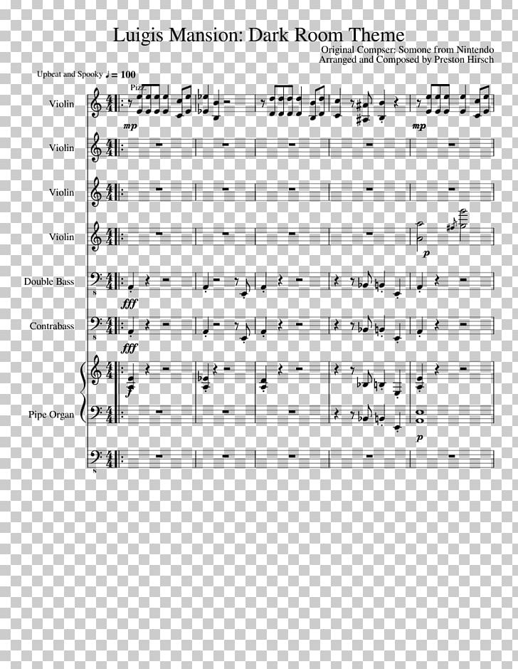 Sheet Music Luigi's Mansion 2 PNG, Clipart, Free PNG Download