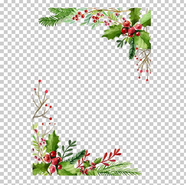 Christmas Card Greeting Card Gift PNG, Clipart, Border, Branch, Chris, Christmas And Holiday Season, Christmas Decoration Free PNG Download
