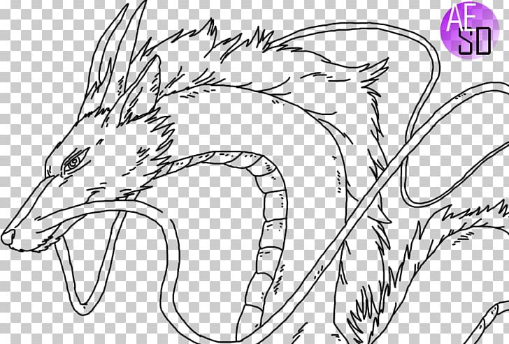 Haku Line Art Drawing Dragon Png Clipart Anime Art Artwork Beak Black And White Free Png