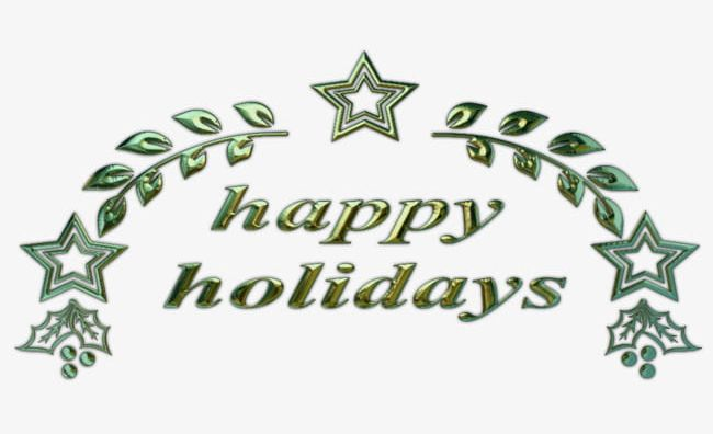 Star Leaves Happy Holidays English PNG, Clipart, Backgrounds, Celebration, Christmas, Christmas Decor, Decoration Free PNG Download