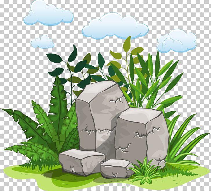 Rock Illustration Png Clipart Artificial Grass Cartoon Cartoon Stone Euclidean Vector Flora Free Png Download